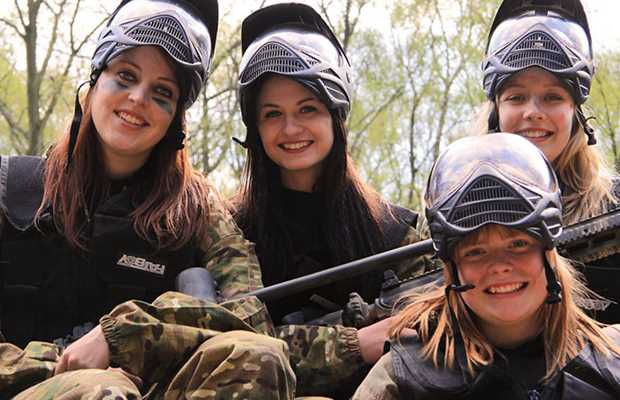 Paintballing Hen Party Bath